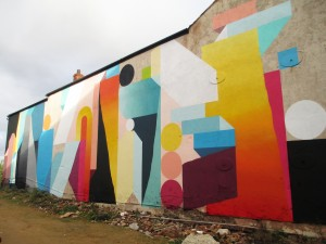 Nelio wall mural in Sheffield